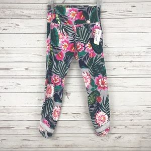 New Old Navy Floral High Rise Ankle Legging Medium